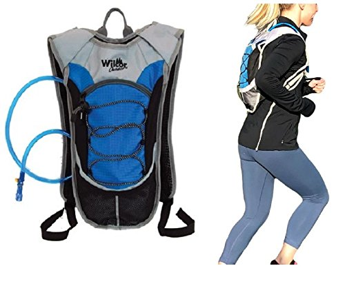 Runners Hydration Backpack Pack with 2 Liter Water Bladder for Running Cycling Marathons For Sale