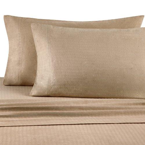 Casual Living Bedding (Casual Living Heavyweight Damask Stripe Flannel Sheet Set, Queen,)