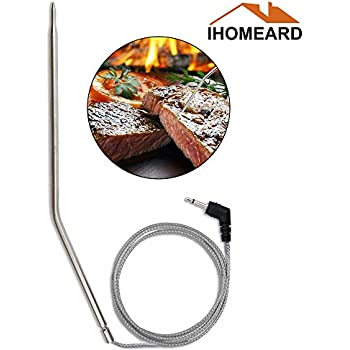 Replacement Temperature Thermometer Meat BBQ Grill Probe Stainless Steel Probes Food Probe For Wireless Digital Thermometer for Cooking, Barbecue/BBQ Grill, ...