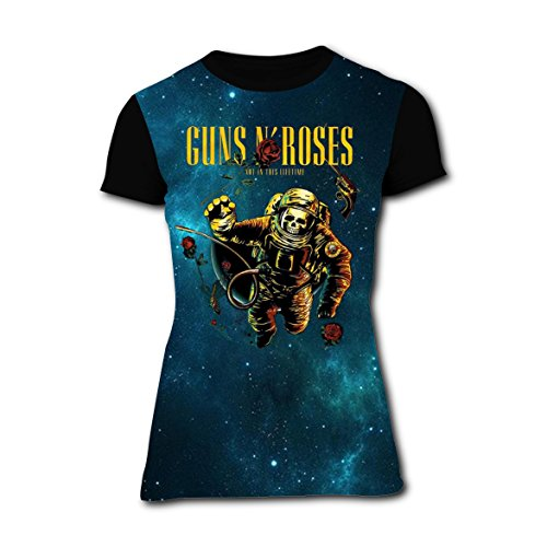 Womens Rose Axl Costume (Funny Guns N' Roses Womens Tee T-shirt short sleeve Costume)