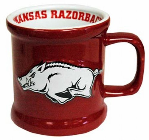 Game Day Outfitters NCAA Arkansas Razorbacks Mug Ceramic Relief