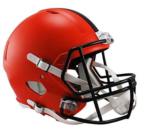 NFL Cleveland Browns Riddell Full Size Replica Speed Helmet, Medium, (Brown Mini Helmet Face Mask)