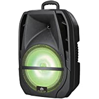Audster AUD-R108 Professional Portable 8 Inch 1000W Speaker with LED Lights and Karaoke
