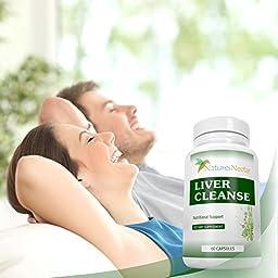 Liver Cleanse & Detox Supplement Support Formula- With Herbs: Milk Thistle Extract, Dandelion, Artichoke Leaf, L-Cysteine, Lipoic Acid Plus Antioxidant Benefits
