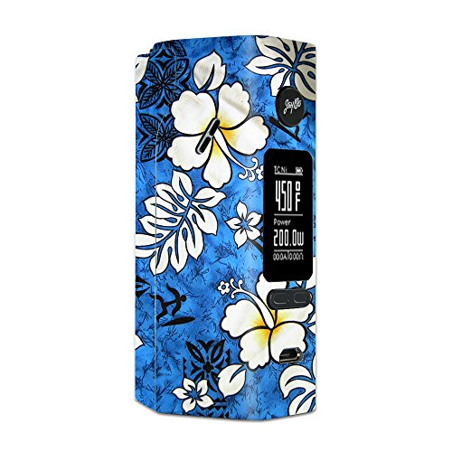 Skin Decal Vinyl Wrap for Wismec Reuleaux RX 2/3 Vape Mod Skins Stickers Cover / Tropical Hibiscus Floral Pattern