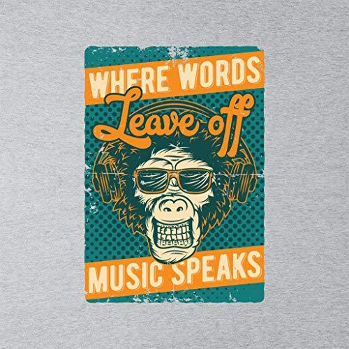 Speaks Grey Coto7 Off Women's Where Monkey Words Heather Leave Music Sweatshirt gX4nvqrXxw