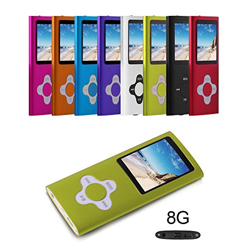 G.G.Martinsen 8 GB Portable MP3/MP4 Player with Multi-lingual OS with Mini USB Port, Voice Recorder and eBook Reader - Green