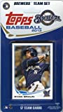 2013 Topps Milwaukee Brewers Factory Sealed Special Edition 17 Card Team Set