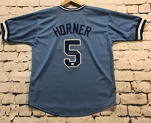 (Bob Horner Signed Autographed Atlanta Braves Throwback Baseball Jersey - JSA COA)