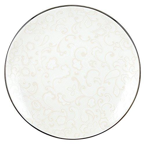 Lenox Venetian Lace Accent Plate, White
