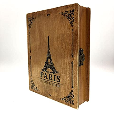 CECII Rectangular Vintage Paris Jewelry Box, Olde-Worlde European Pattern Wooden Box - Log Seven Drawer Dresser