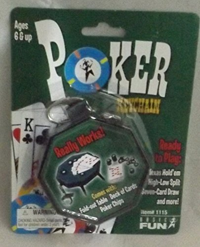 Poker Table Keychain - Play Texas Hold'em, High-Low Split, Seven Card Draw by Basic Fun
