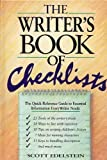 Writer's Book of Checklists, Scott Edelstein, 0898794544
