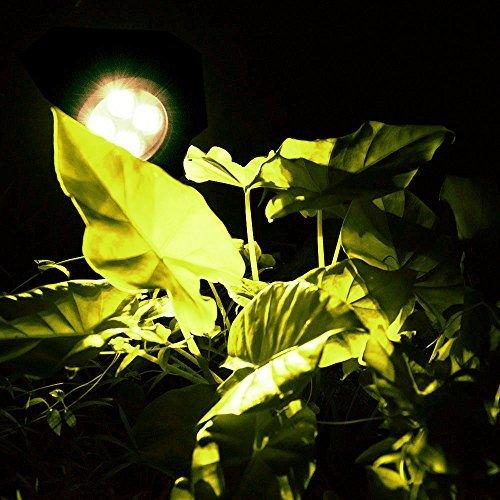 Solar Spotlights,AGPTEK 4-LED Solar Landscape Lights 180 ° Adjustable Waterproof Outdoor Security Lighting Wall Lights Auto On/Off for Yard Garden Driveway Patio Lawn Pool