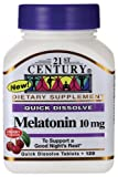 (US) 21st Century Melatonin Quick Dissolve Tablets, Cherry, 10 mg, 120 Count (Pack of 3)