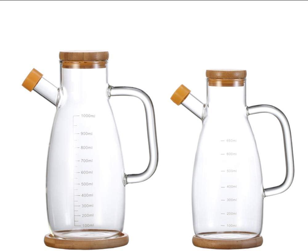 JANSUDY Pote De Aceite De Vidrio De Cocina Botella De Condimento De Gran Capacidad Utilizado Para Almacenar Aceite//Salsa De Soja//Vinagre