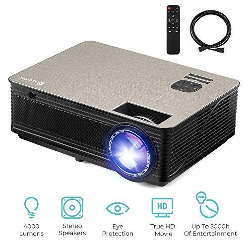 Multimedia Projector Bulbs - 4000 Lumens Projector, HD LED Multimedia Video Projector Support 1080P 200