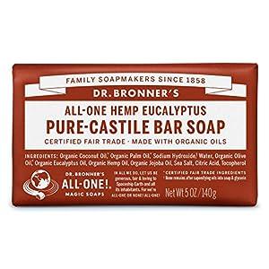 Dr Bronner Organic Eucalyptus Soap Bar 140g