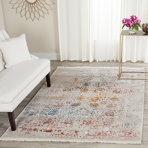 Safavieh Vintage Persian Collection VTP409C Oriental Watercolor Light Grey and Multi Area Rug (8' x ()