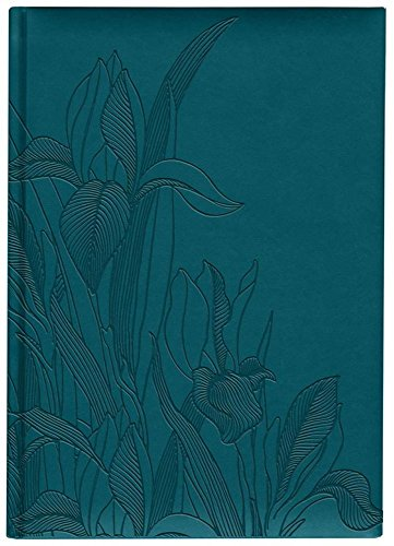 Iris Collection Large Hardcover Notebook with Padded Embossed Cover, Teal (7706320)