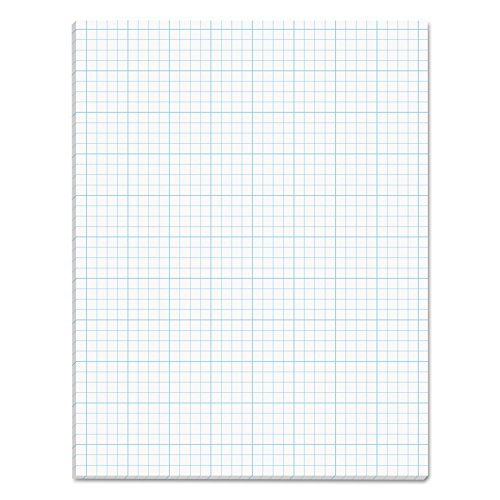 Four Section (TOPS Cross Section Pad, 1 Pad, 4 Squares/Inch, Quadrille Rule, Letter Size, White, 50 Sheets/Pad, 1 Pad (35041))