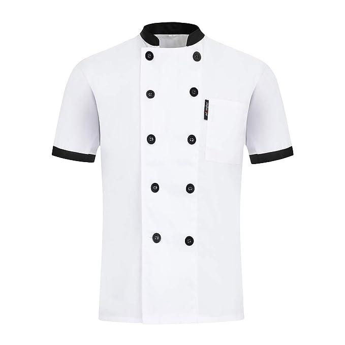 Pinji - Chaqueta de Cocinero para Hombres y Mujeres ...