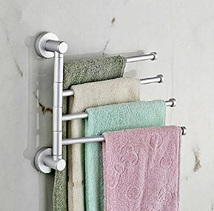 GuoEY Rotación de 360 Grados, secador de Toallas de baño, toallero calefaccionado, Hair