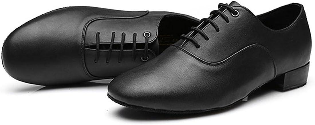 TDA Mens Classic Lace-up Leather Tango Ballroom Salsa Latin Dance Wedding Shoes