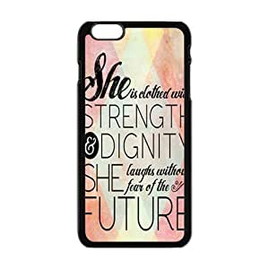 Happy she is dathed wite strength Phone Case for Iphone 6 Plus