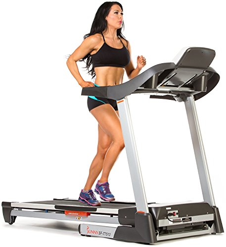 Treadmill w/ Sound System, Portable, Folds and Large Console Display by Sunny Health & Fitness - SF-T7513