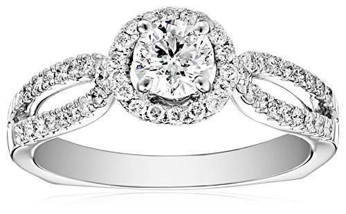 Kobelli 1 cttw Round Diamond 14k White Gold Engagement Ring