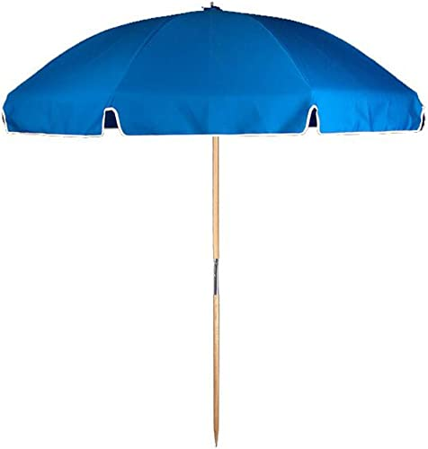 Frankford Umbrellas 7.5ft. Steel Commercial Grade Beach Umbrella Ash Wood Pole