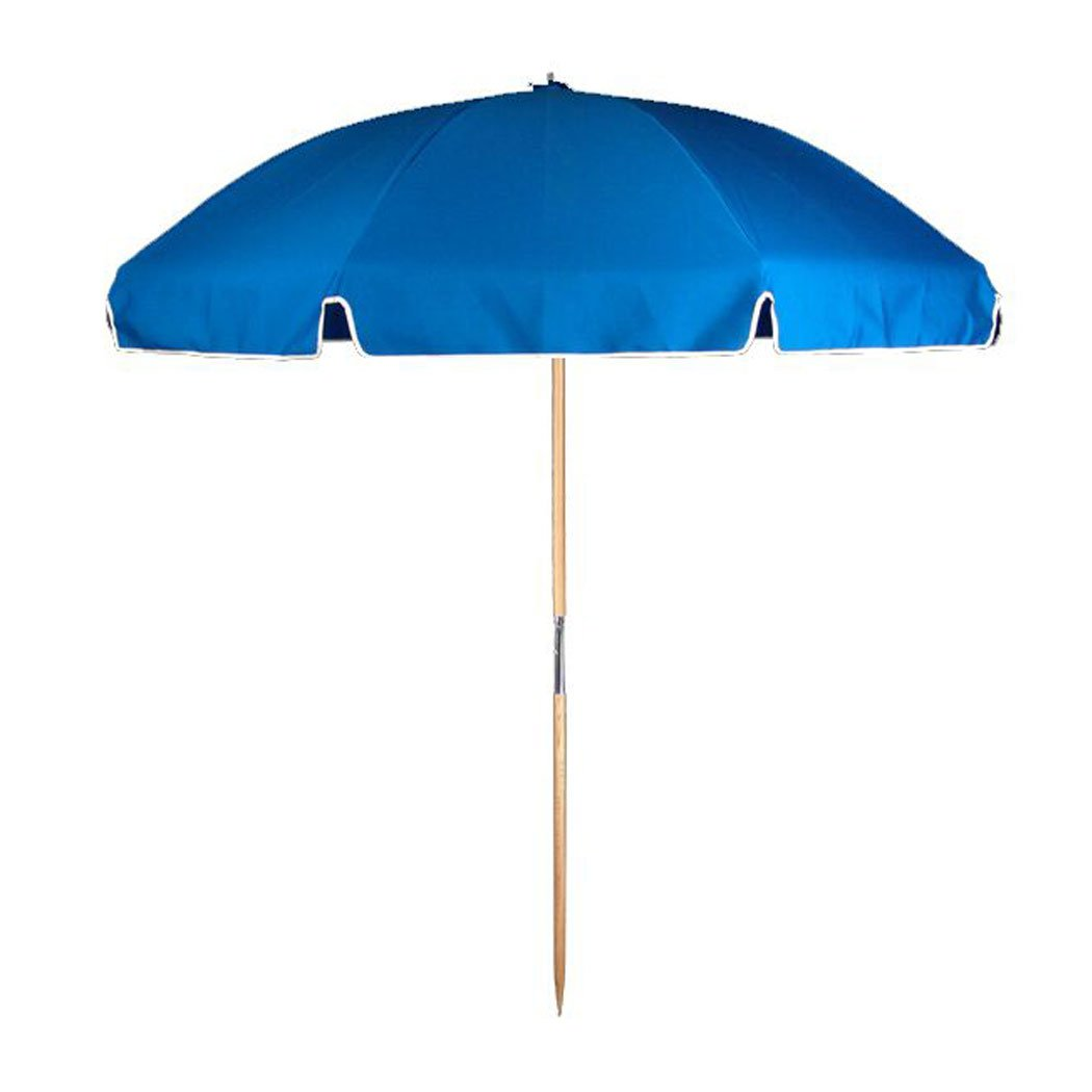 7.5 ft.Steel Commercial Grade Beach Umbrella Ash Wood Pole Carry Bag
