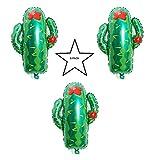 Large Cactus Balloon 3 Pack Party Balloon Cactus Balloons