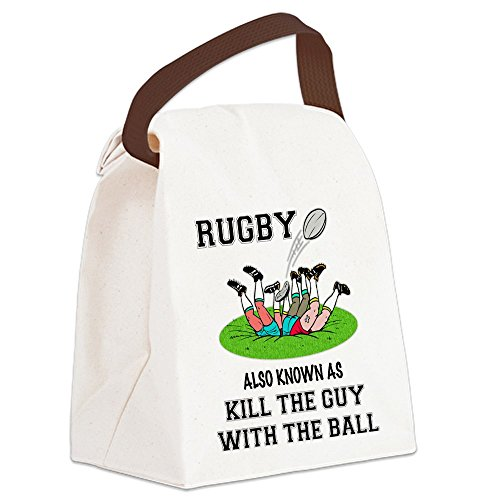 CafePress - Rugby Kills Canvas Lunch Bag - Canvas Lunch Bag with Strap Handle (Rugby Pique Cotton)