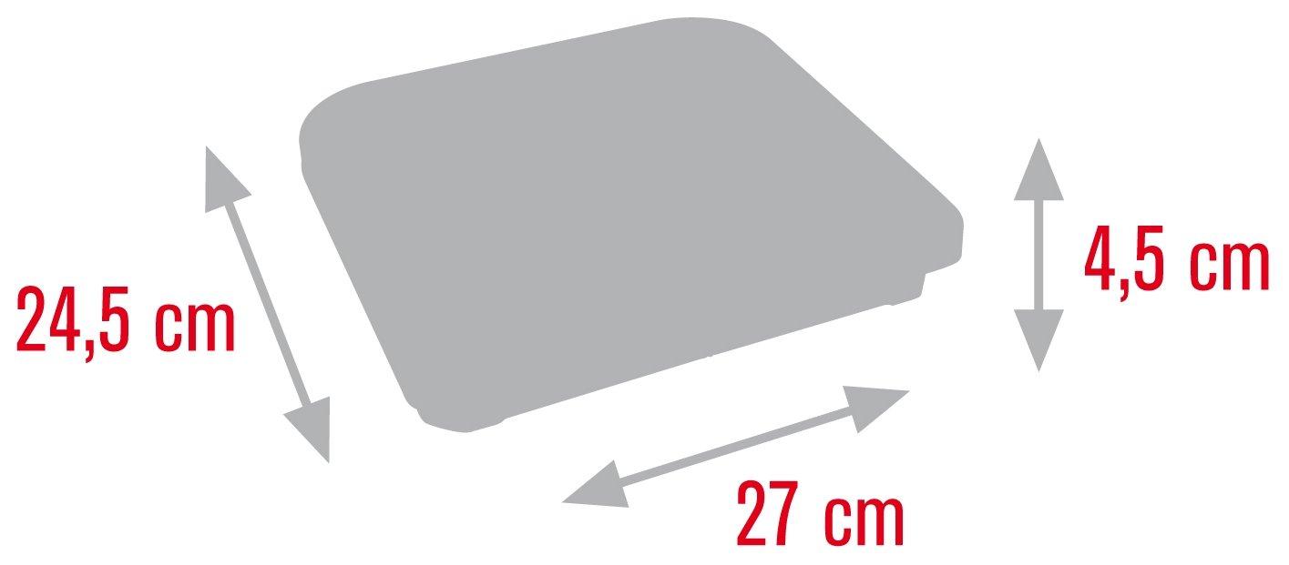 Meliconi Bilancia Pesapersone Meccanica max 130 Kg modello Cat /& Dog misura 24,5 x 27 cm