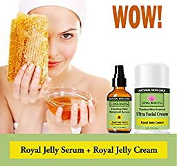 #1 Best Royal Jelly Serum for Face by Joyal Beauty- Timeless Skin Renewal Serum. Enriched With Organic Bee Propolis,Royal Jelly,Honey. The World\'s Best Collagen Booster to Enhance Your Natural Beauty!