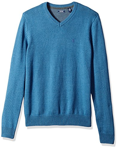 IZOD Men's Fine Gauge Solid V-Neck Sweater, Federal Blue, X-Large by IZOD