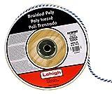 Lehigh BWSBP860 3/8-Inch by 600-Feet Polypropylene Solid Braid Derby Rope, Blue/White