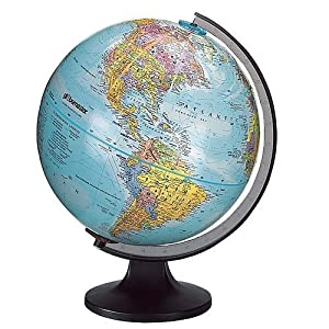 Edu science world globe 12 inch diameter globemaster by unknown toys games - Globo terraqueo amazon ...