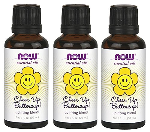 NOW Cheer Up Buttercup! Essential Oil Blend, 1-Ounce (Pack of 3) by NOW Foods