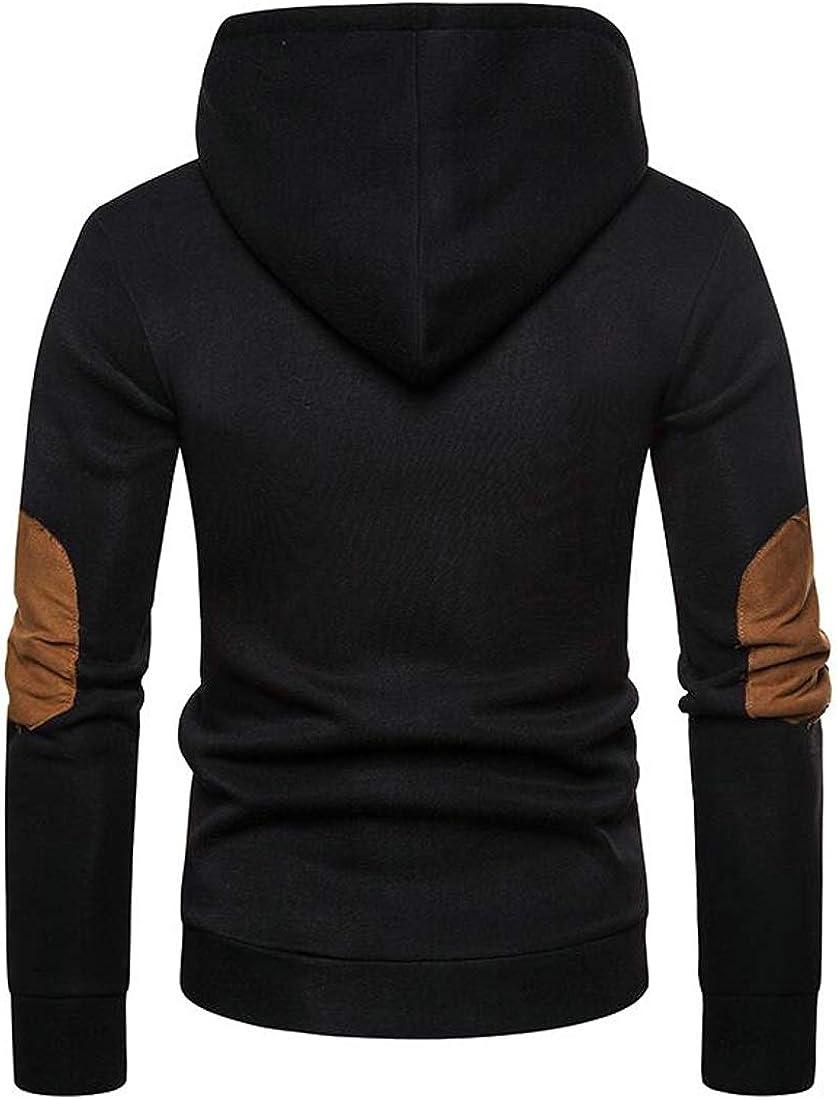 Hajotrawa Men Pullover Plus Size Casual Hoodie Athletic Sweatshirts