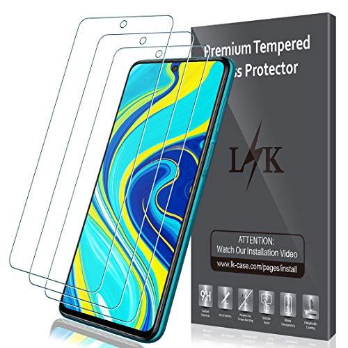🥇 LK Protector de Pantalla para Xiaomi Redmi Note 9S / Note 9 Pro/Note 9 Pro MAX Cristal Templado
