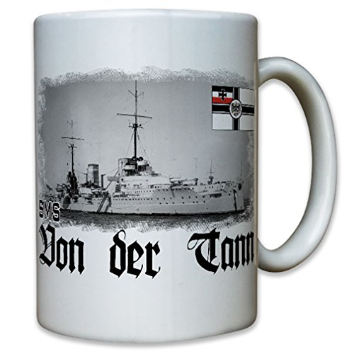 SMS Von der Tann Bavarian-Big cruiser battle cruiser German Imperial Navy Germany General Ludwig von der Tann-Rathsamhausen - Coffee Cup Mug