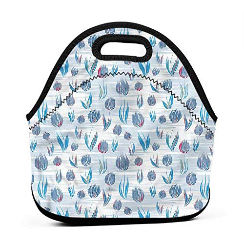 - for Womens Mens Boys Girls Tulip,Painting Effect Tulips,hard top lunch bag for men