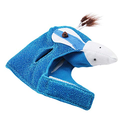 Toporchid Creative Goods for Animals Puppies Cat Halloween Costumes Cosplay Clothes Pet Blue Peacock Dress]()