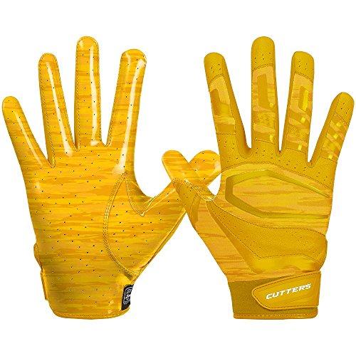 Cutters Gloves Rev Pro 3.0 Receiver Phantom Gloves, Gold Camo, Medium