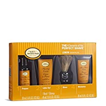 The 4 Elements of The Perfect Shave Mid-Size Kit - Lemon by The Art of Shaving for Men - 4 Pc Kit 1oz Pre-Shave Oil, 1.5oz Shaving Cream , 1oz After-Shave Balm , Pure Badger Black Shaving Brush