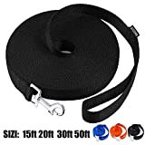 AMAGOOD Dog/Puppy Obedience Recall Training Agility Lead-15 ft 20 ft 30 ft 50 ft Long Leash-for Dog Training,Recall,Play,Safety,Camping