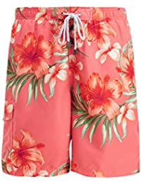 Men's Swim Trunks Quick Dry Board Shorts Surf Beach Bathing Suit With Pockets 100% Polyester